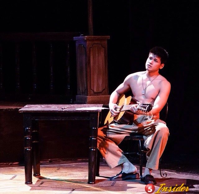 """Vin Abrenica as """"Daniel"""" in his first stage role IMAGE CREDIT: TV5 Insider Instagram"""
