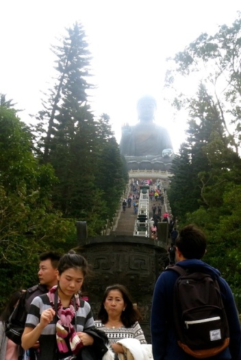 The 268 steps leading to the gigantic Buddha