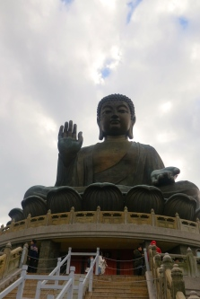 32 meters of serenity: The Tian Tian Buddha up close