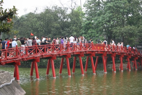 The bridge to Ngoc Son Temple