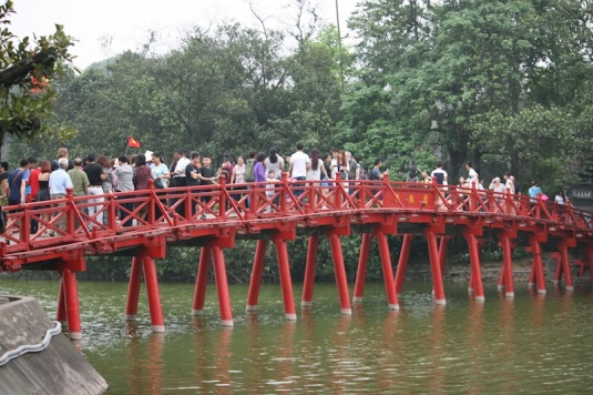 The bridge to Ngoc Son Temple